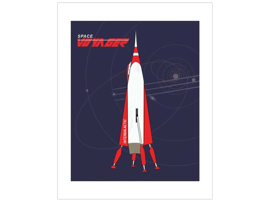 "Carta Bella Collection Space Academy Art Print 11""x 14"" Space Voyager"