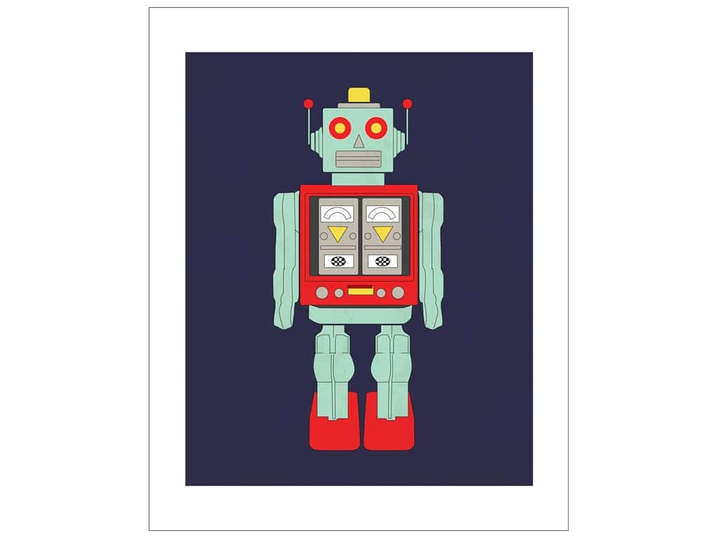 "Carta Bella Collection Space Academy Art Print 8""x 10"" Robot"