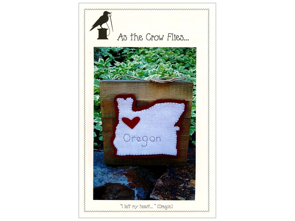 As The Crow Flies I Left My Heart Oregon Pattern