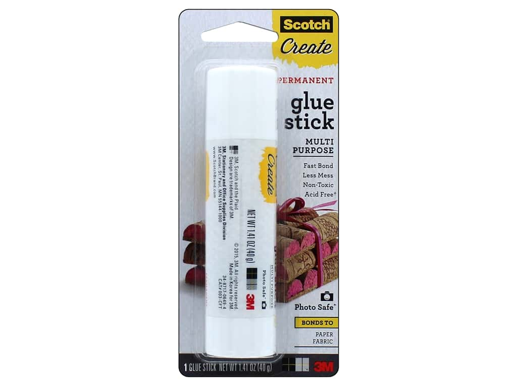 Scotch 3M Permanent Glue Sticks 1.41 oz.