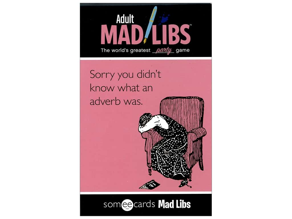 Someecards Adult Mad Libs Book