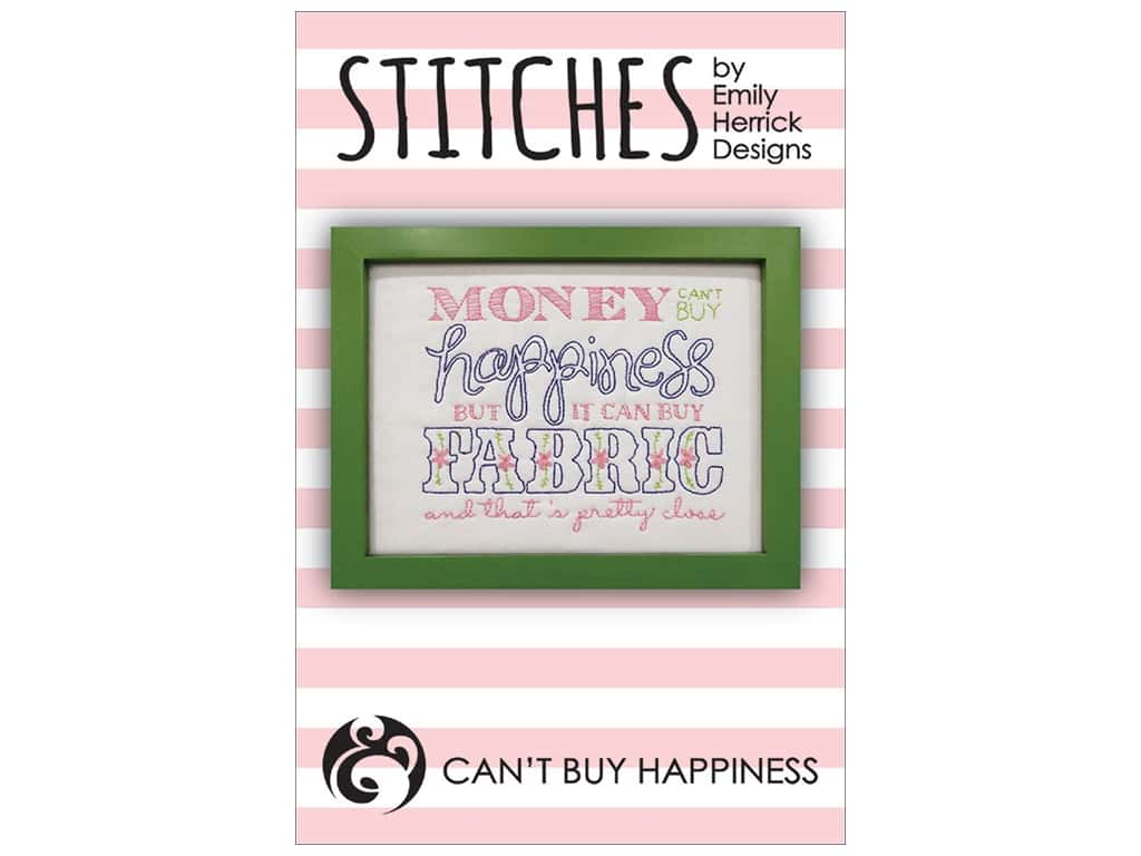 Emily Herrick Designs Stitches Can't Buy Happiness Pattern