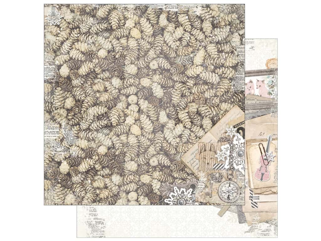 Bo Bunny 12 x 12 in. Paper Winter Wishes Boughs (25 pieces)