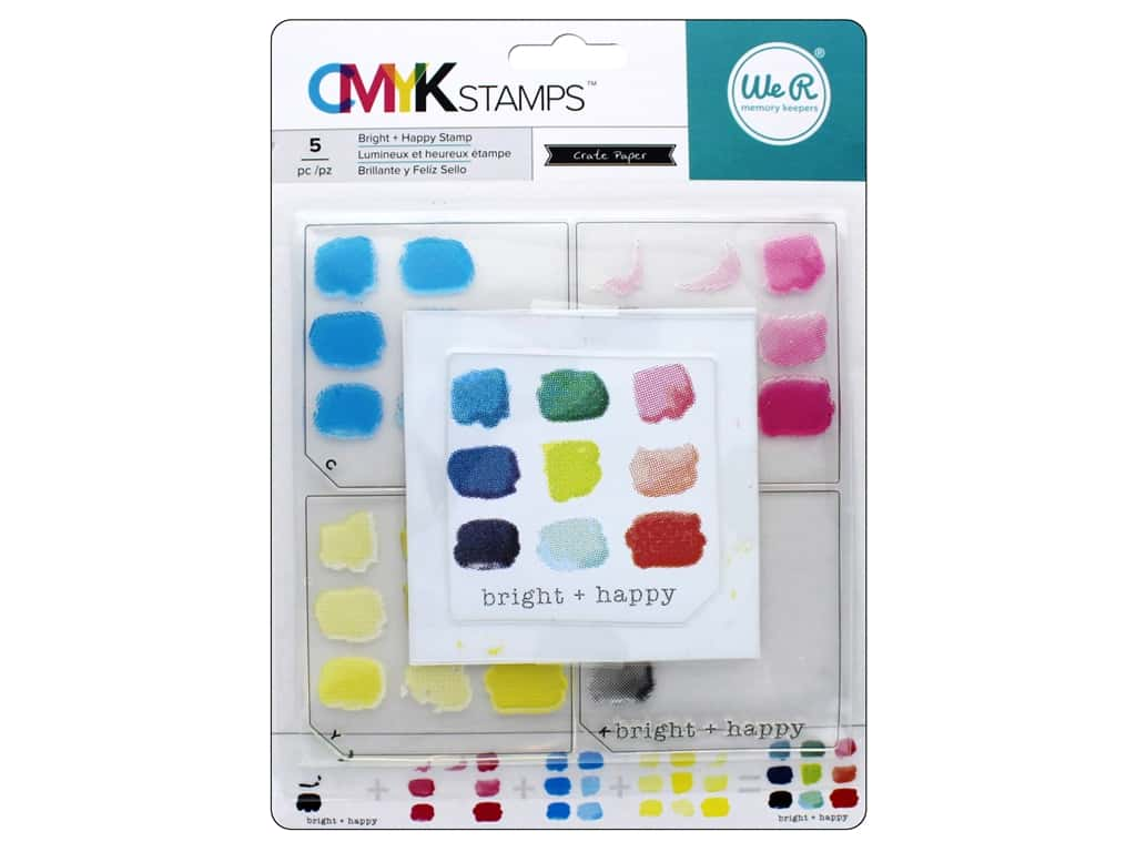 We R Memory Keepers CMYK Stamps Bright & Happy