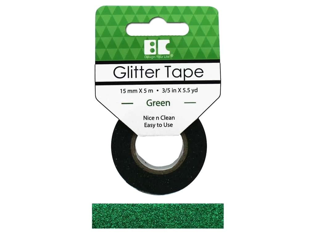 Best Creation Glitter Tape 5/8 in. x 5 1/2 yd. Green