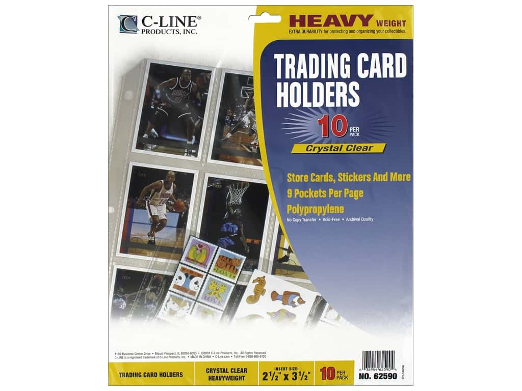 C-Line Trading Card Holder 9 x 11 1/2 in. Top Load 10 pc.