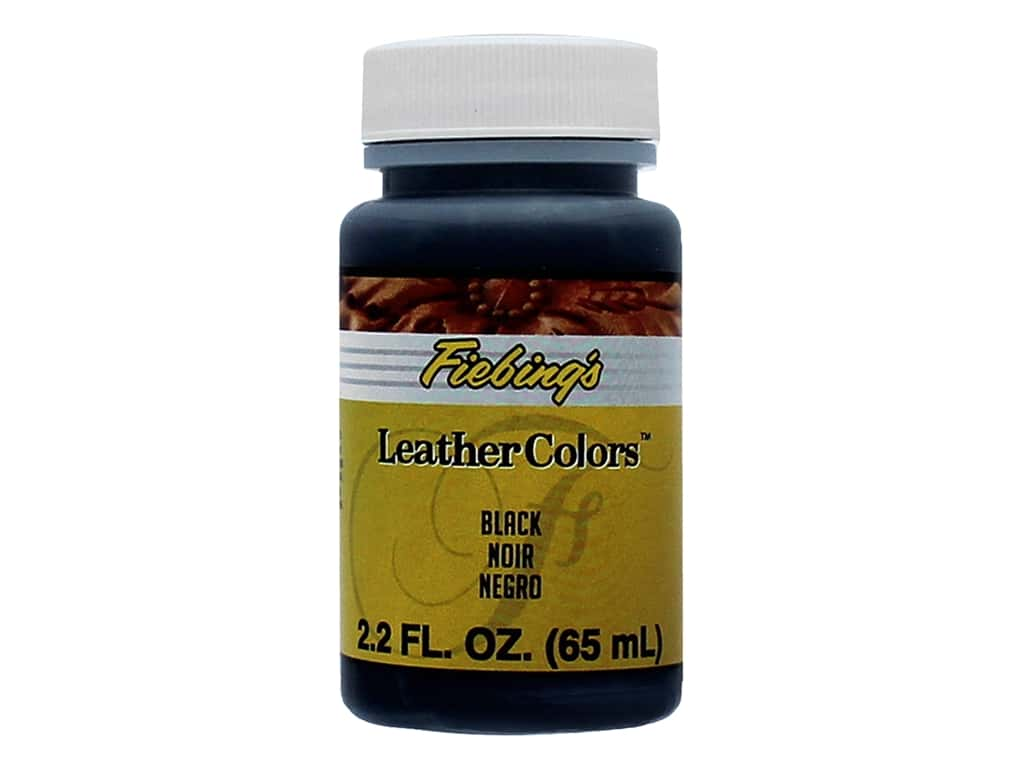 Fiebings LeatherColors Leathercraft Dye 2.2 oz. Black