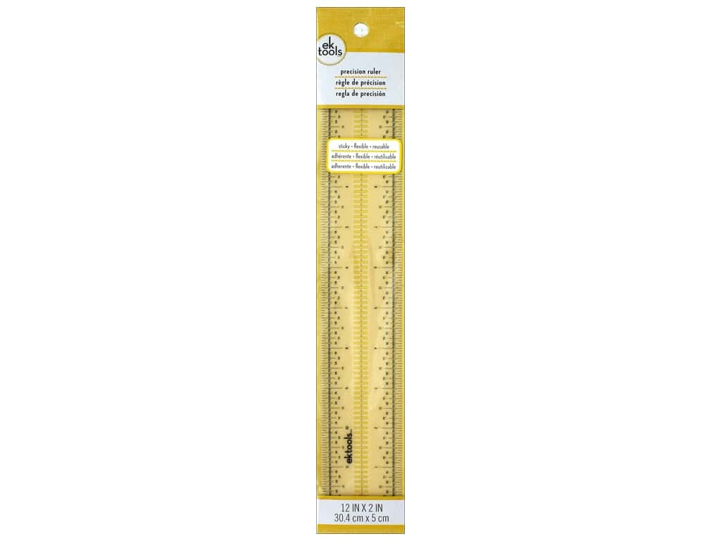 "EK Tool Precision Ruler 12""x 2"" Sticky Flexible"