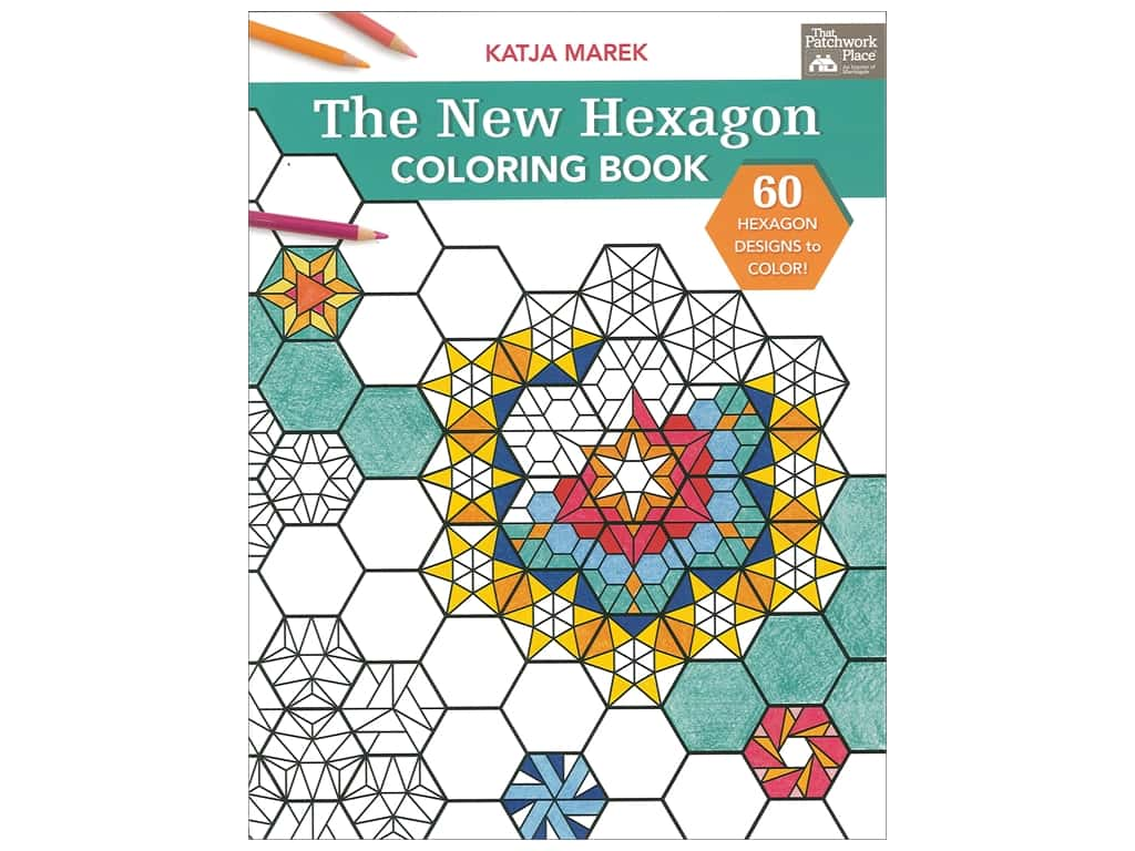 The New Hexagon Coloring Book by Katja Marek