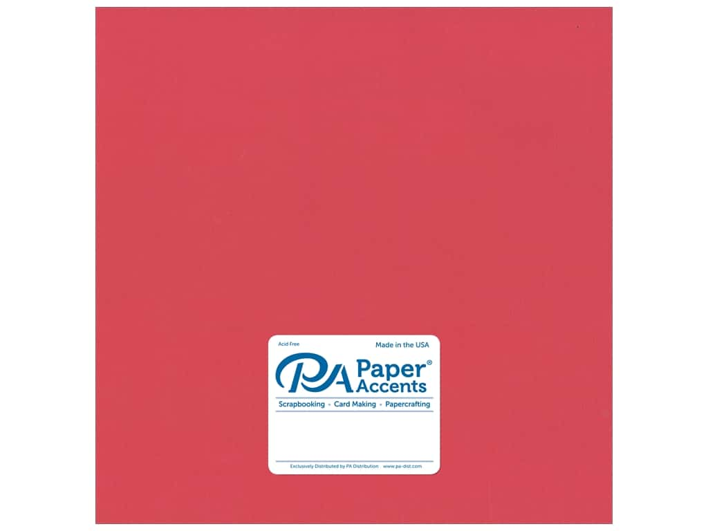 Paper Accents Cardstock 12 x 12 in. #18008 Smooth Strawberry (25 sheets)