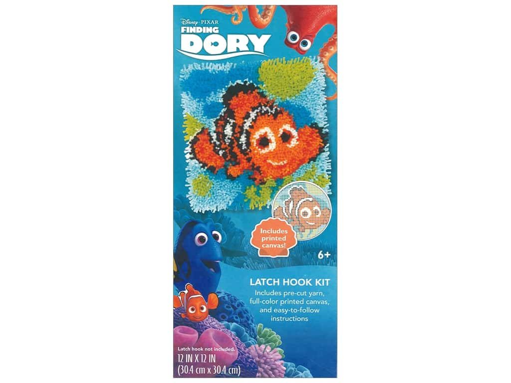 Dimensions Latch Hook Kit Disney Nemo