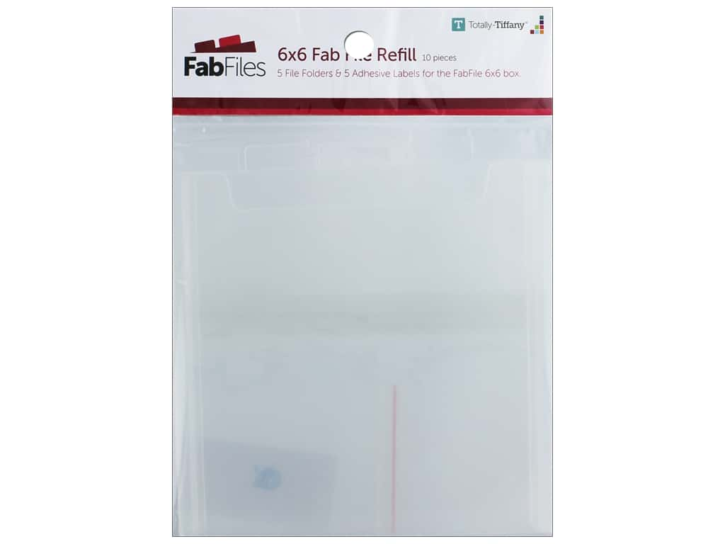 Totally Tiffany Fab File Refill Pocket 6 in. x 6 in.