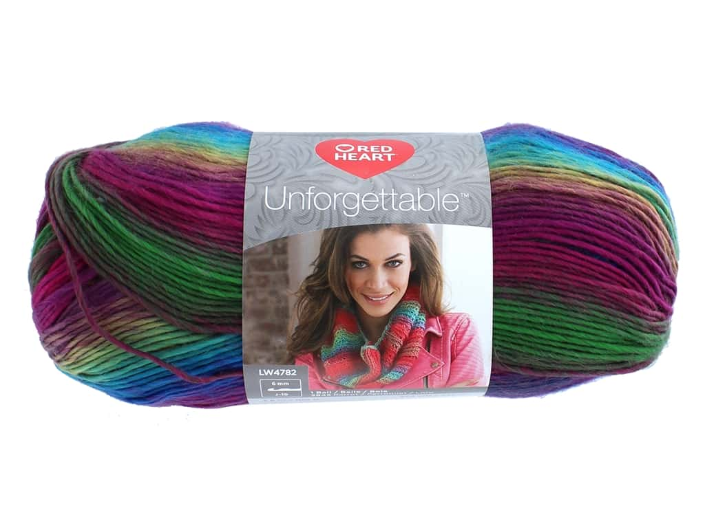 Red Heart Unforgettable Yarn 270 yd. #3943 Stained Glass