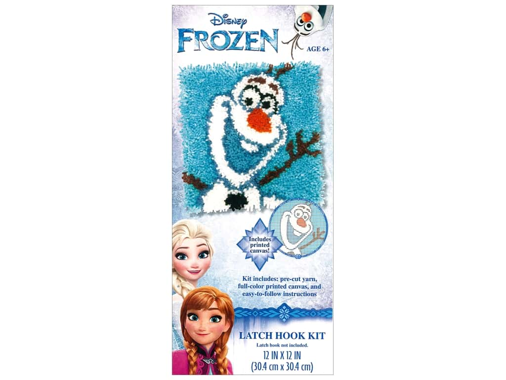 Dimensions Latch Hook Kit Disney Olaf