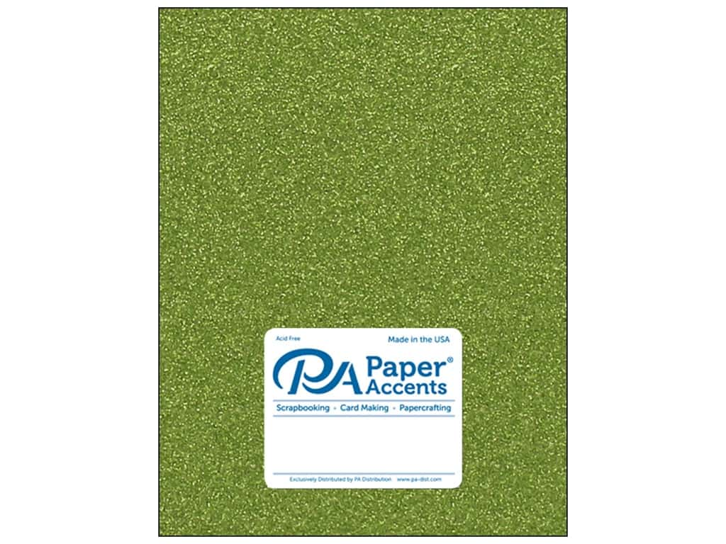 Paper Accents Glitter Cardstock 8 1/2 x 11 in. #G25 Olive Green 15 pc.