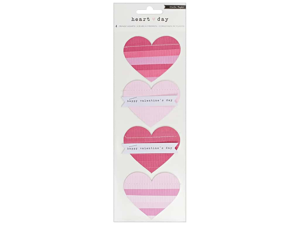 Crate Paper Collection Heart Day Sticker Fringe Hearts