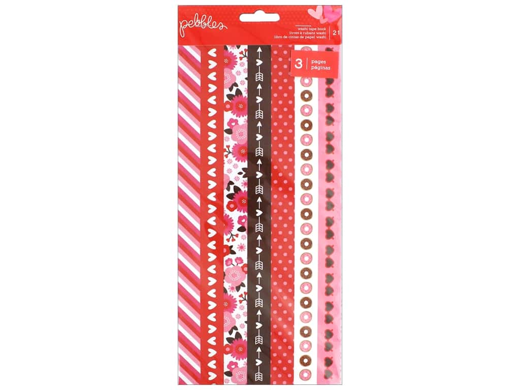 Pebbles Collection My Funny Valentine Washi Tape Strips