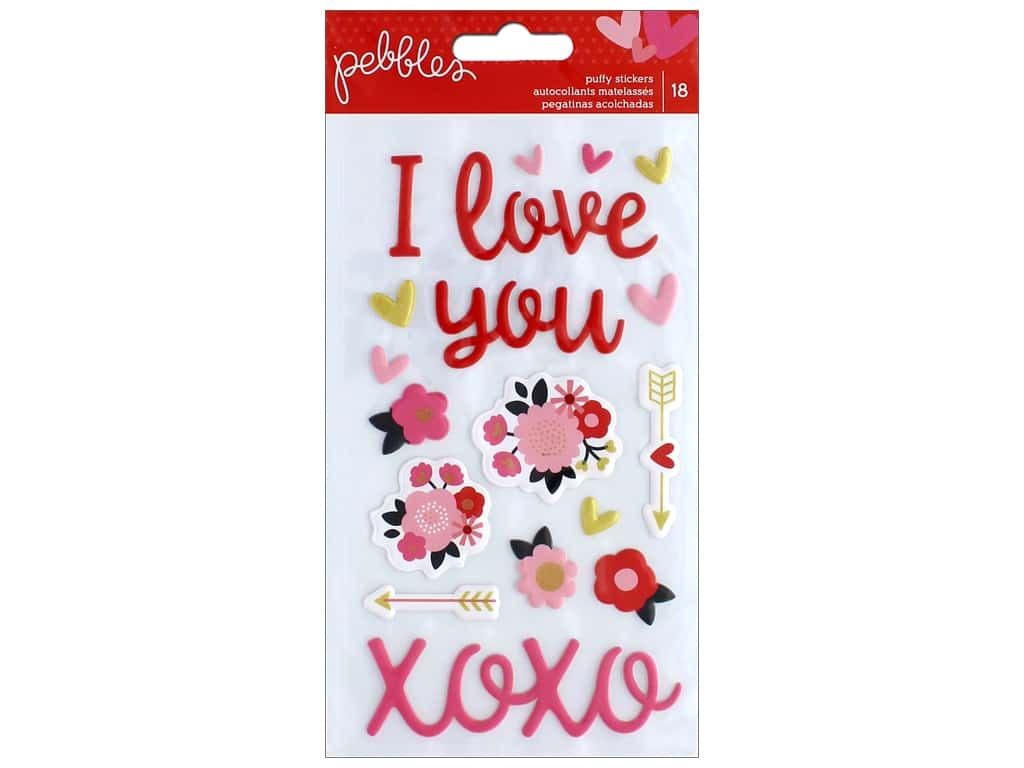 Pebbles Collection My Funny Valentine Sticker Puffy Phrase