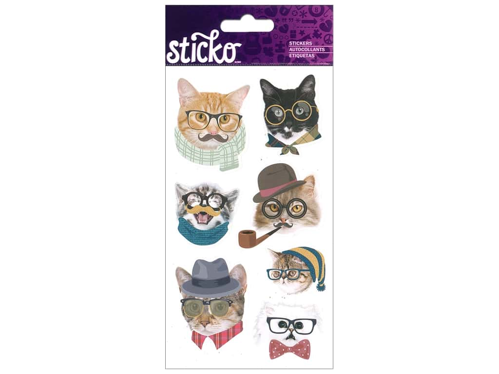 EK Sticko Stickers Hipster Cats
