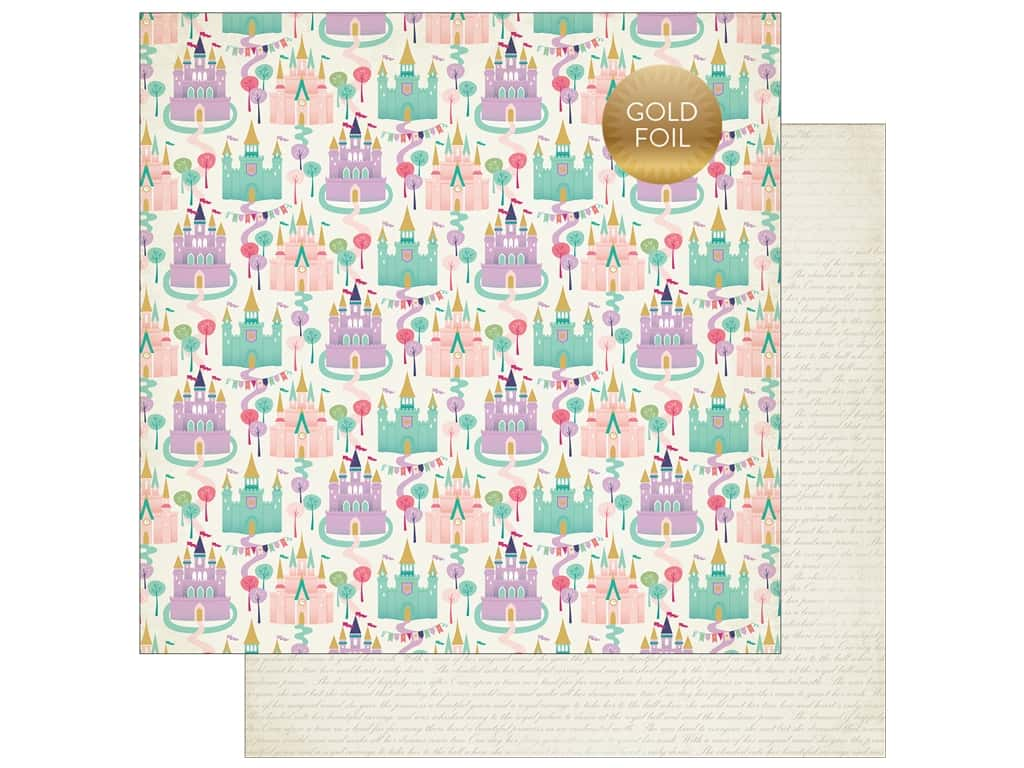 """Echo Park Collection Once Upon A Time Paper 12""""x 12"""" Dream Castles (25 pieces)"""