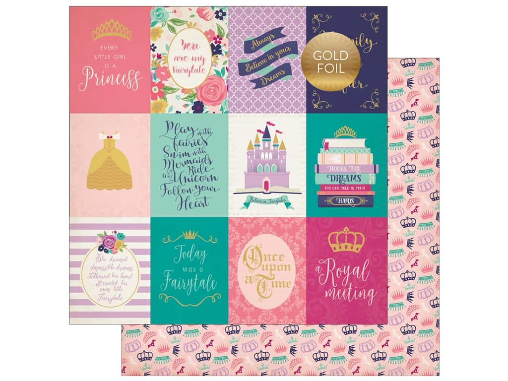 "Echo Park Collection Once Upon A Time Paper 12""x 12"" Journaling Cards 3""x 4"" (25 pieces)"