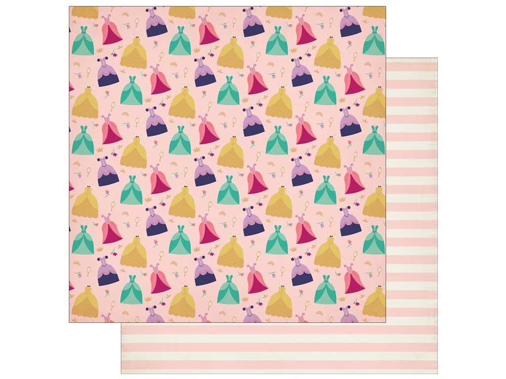 """Echo Park Collection Once Upon A Time Paper 12""""x 12"""" Enchanting Gowns (25 pieces)"""