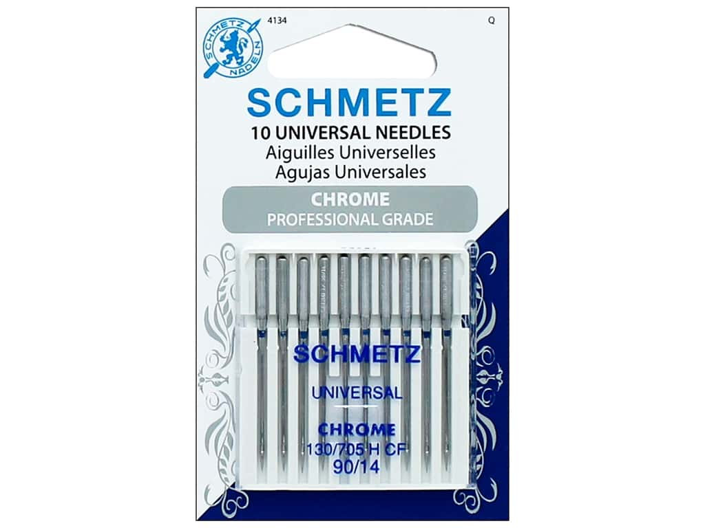 Schmetz Machine Universal Needle Chrome Size 90/14 10pc