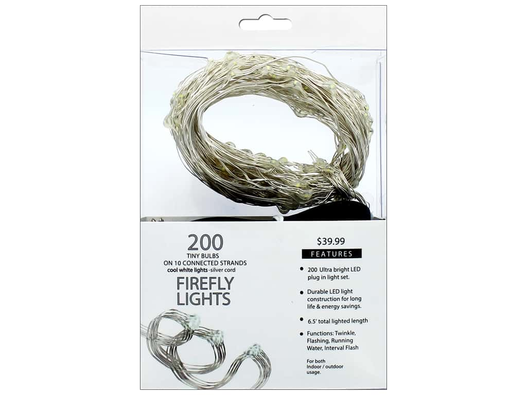 Sierra Pacific Crafts Lights Firefly LED 200 ct Cool White Silver Cord