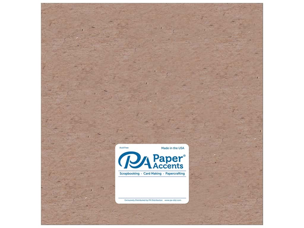 Paper Accents Chipboard 12 x 12 in. 20 pt. Light Weight Natural 5 pc.