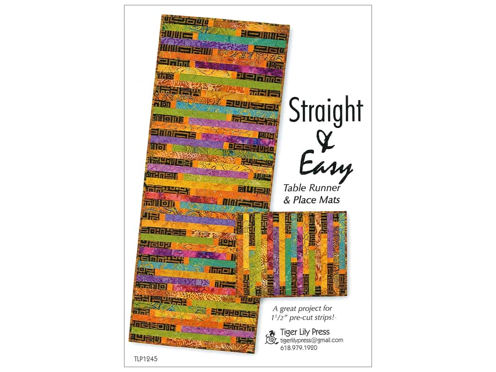Tiger Lily Press Straight & Easy Table Runner Pattern
