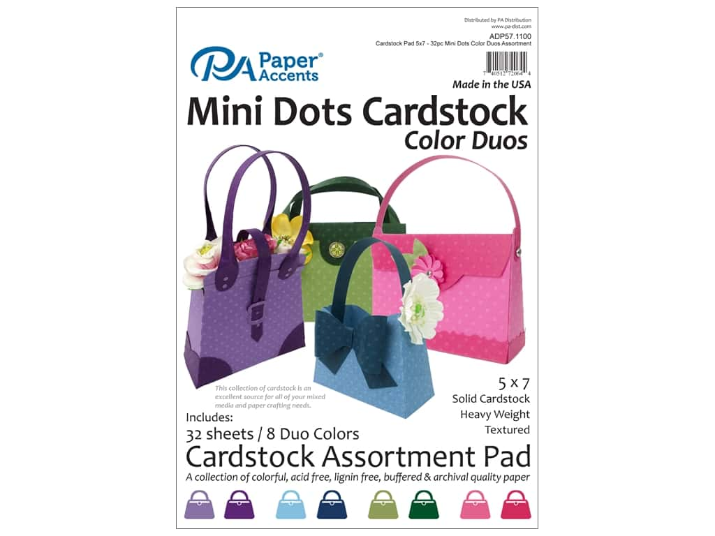 Paper Accents 5 x 7 in. Cardstock Pad 32 pc. Mini Dots Color Duos