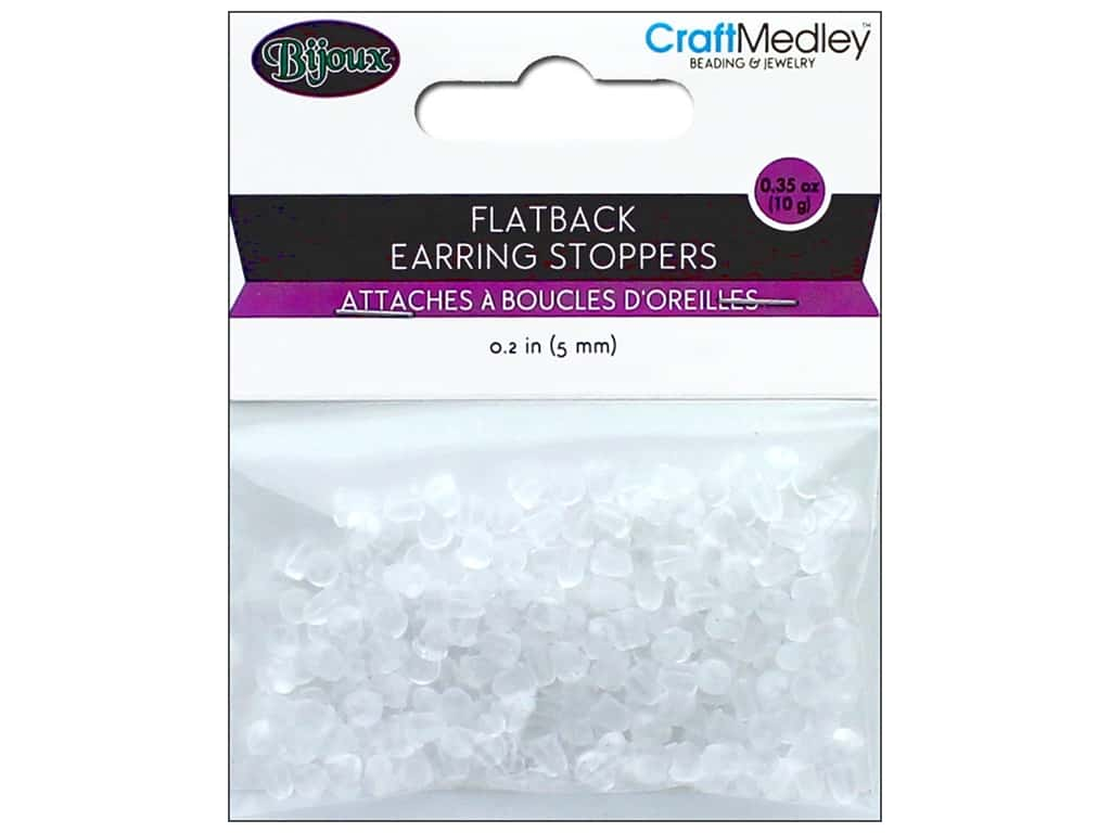Multicraft Jewelry Findings Earring Back 5mm Flatback Rubber 200pc