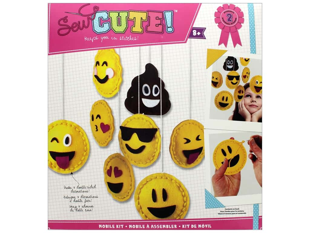 Colorbok Kit Sew Cute Mobile Kit Emoji