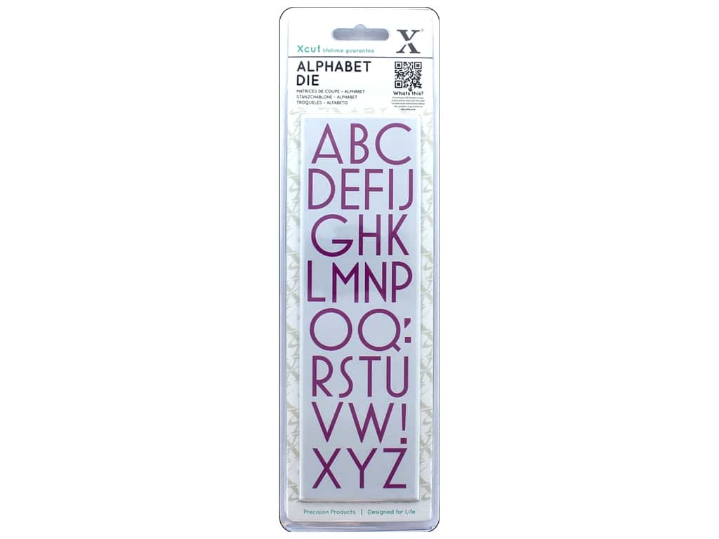 Docrafts Xcut Die Set Alphabet Art Deco