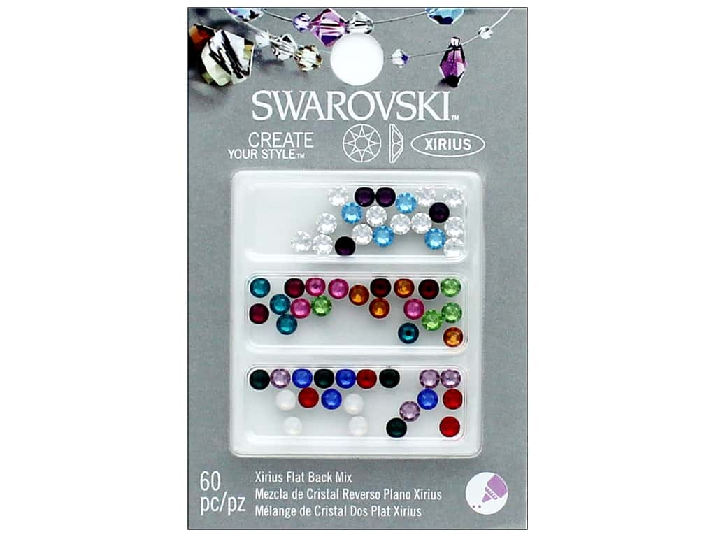 Cousin Swarovski Hotfix Rhinestones 60 pc. Mix Birthstone