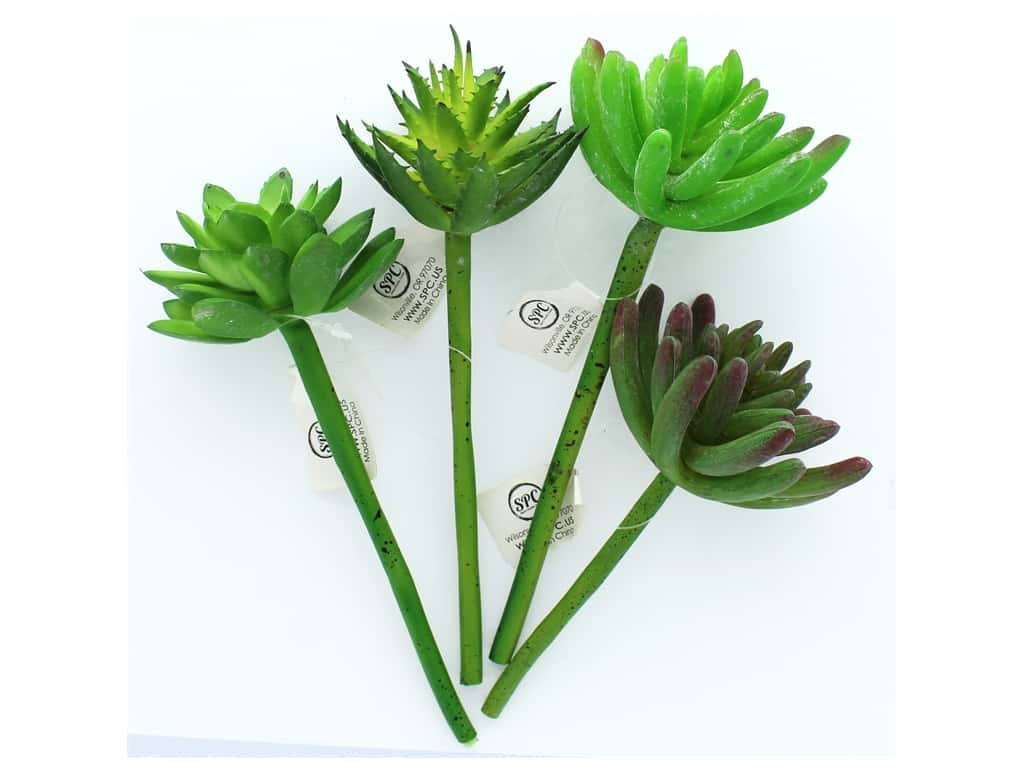 Sierra Pacific Crafts Succulent Pick 7 3/4 in. 4 pc. (4 pieces)