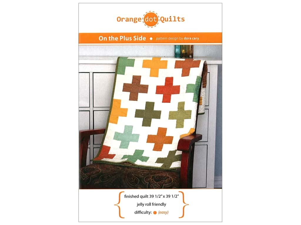Orange Dot Quilts On The Plus Side Pattern