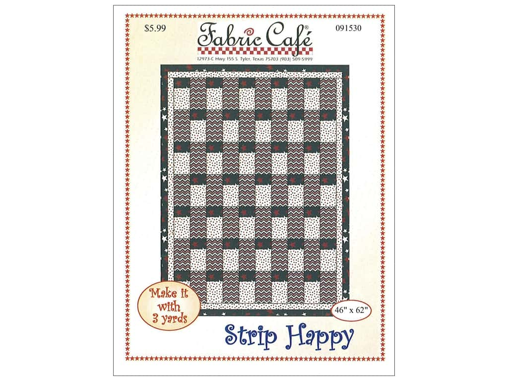 Fabric Cafe Strip Happy 3 Yard Quilt Pattern