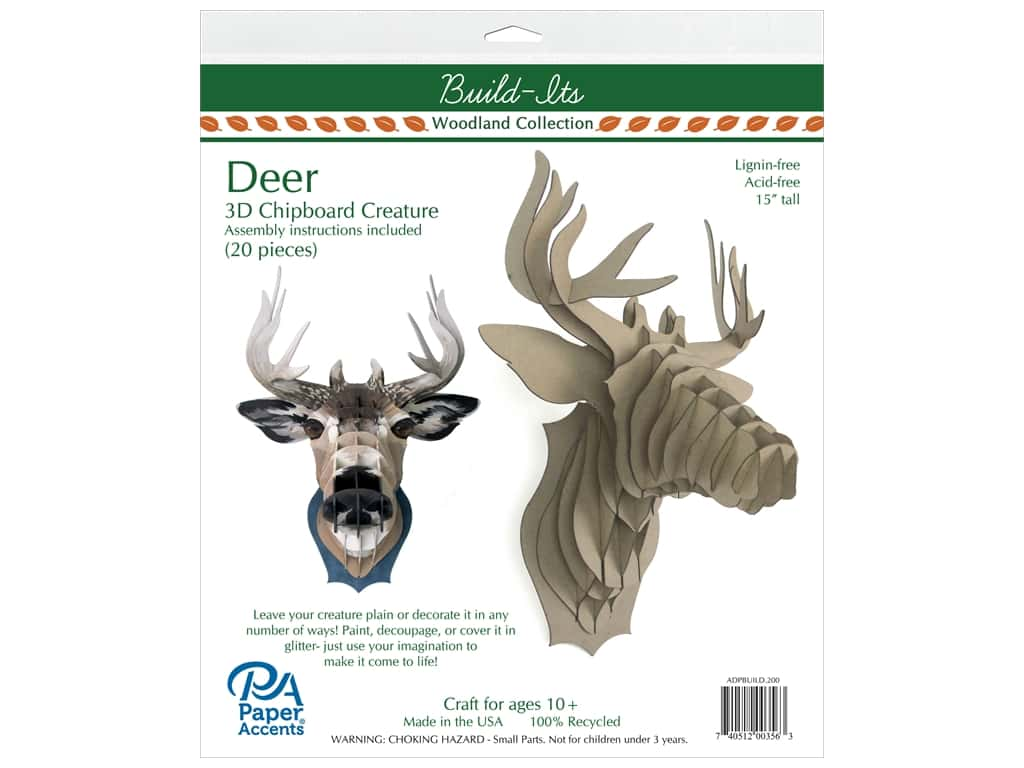 Paper Accents Chipboard Build-Its 15 in. Deer