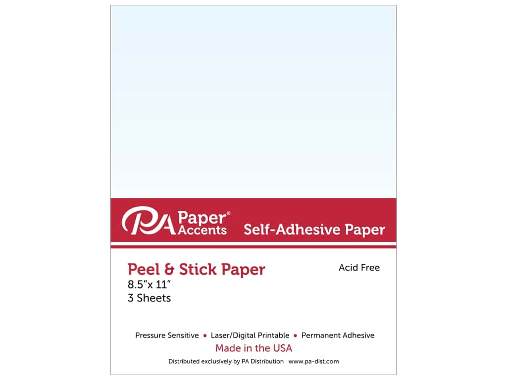Paper Accents Adhesive Paper 8 1/2 x 11 in. Clear 3 pc.
