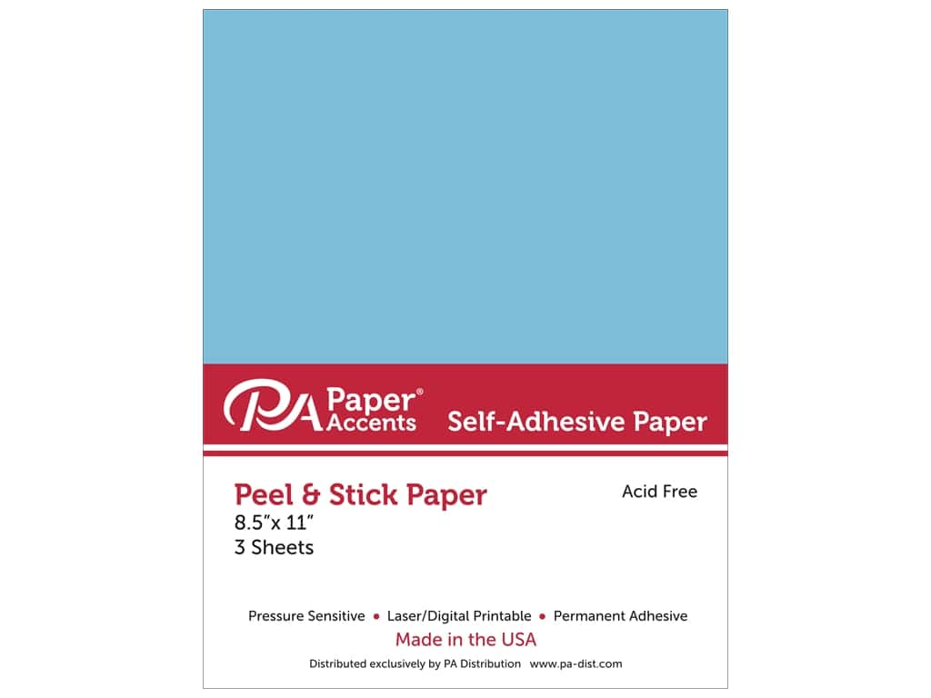 Paper Accents Adhesive Paper 8 1/2 x 11 in. Blue 3 pc.