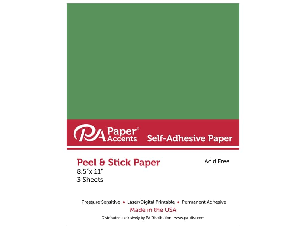 Paper Accents Adhesive Paper 8 1/2 x 11 in. Green 3 pc.