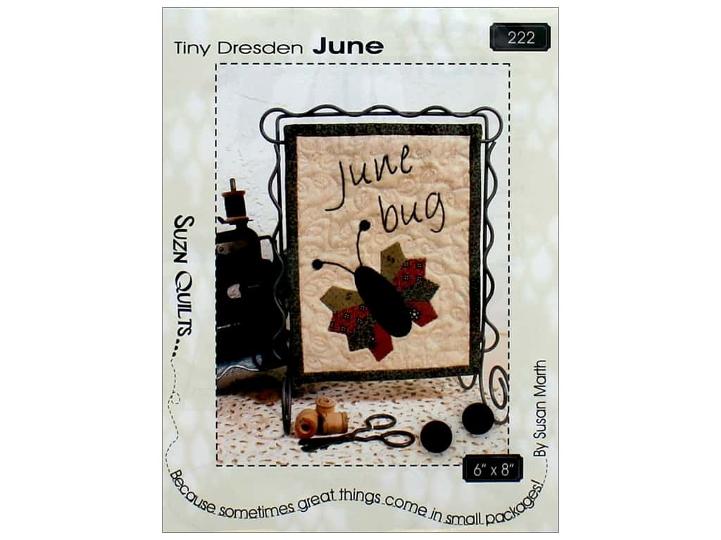 Suzn Quilts Pattern - Tiny Dresden June