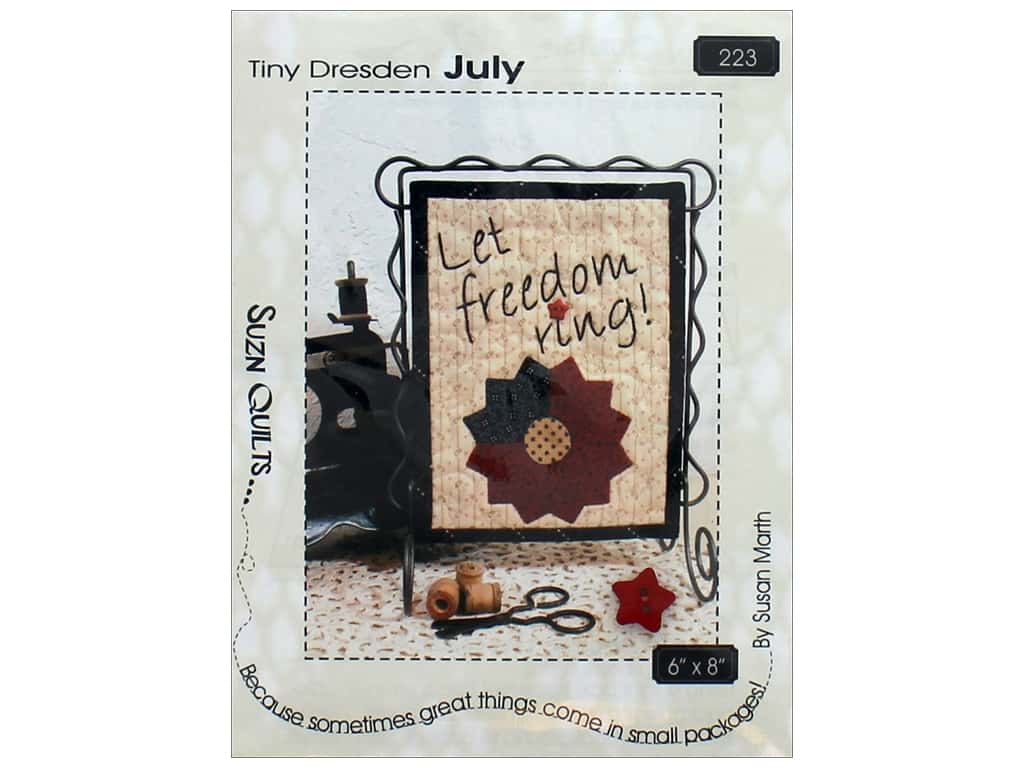 Suzn Quilts Tiny Dresden July Pattern