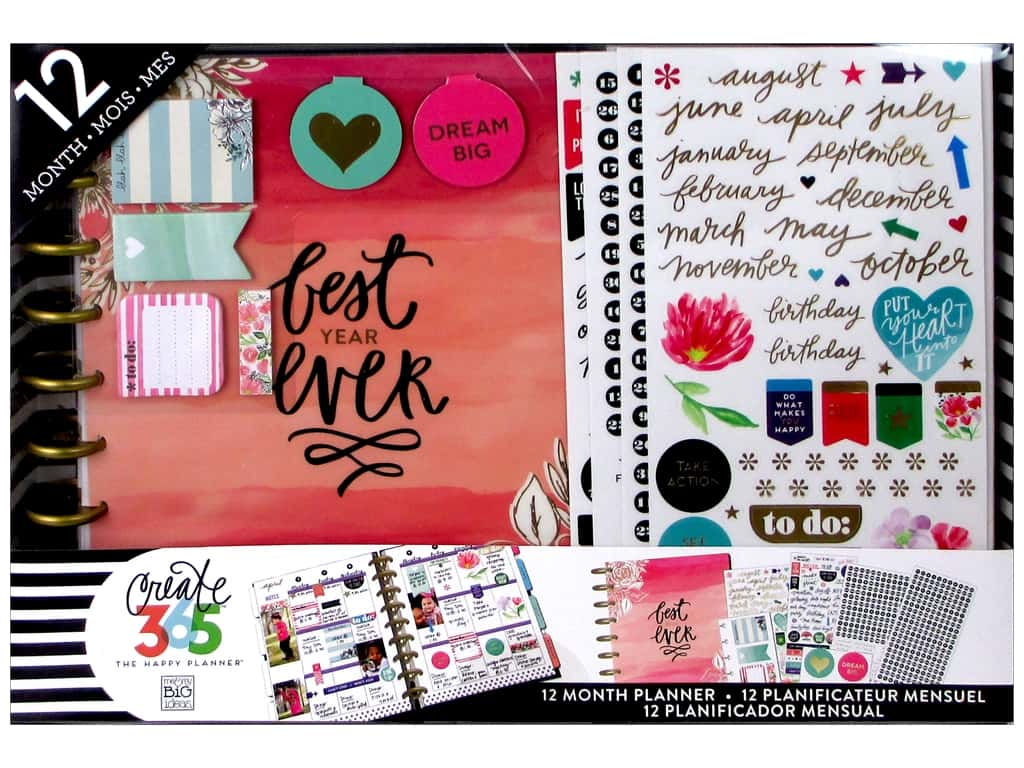 Me & My Big Ideas Create 365 Happy Planner 12 Month Box Kit - Classic Best Year Ever