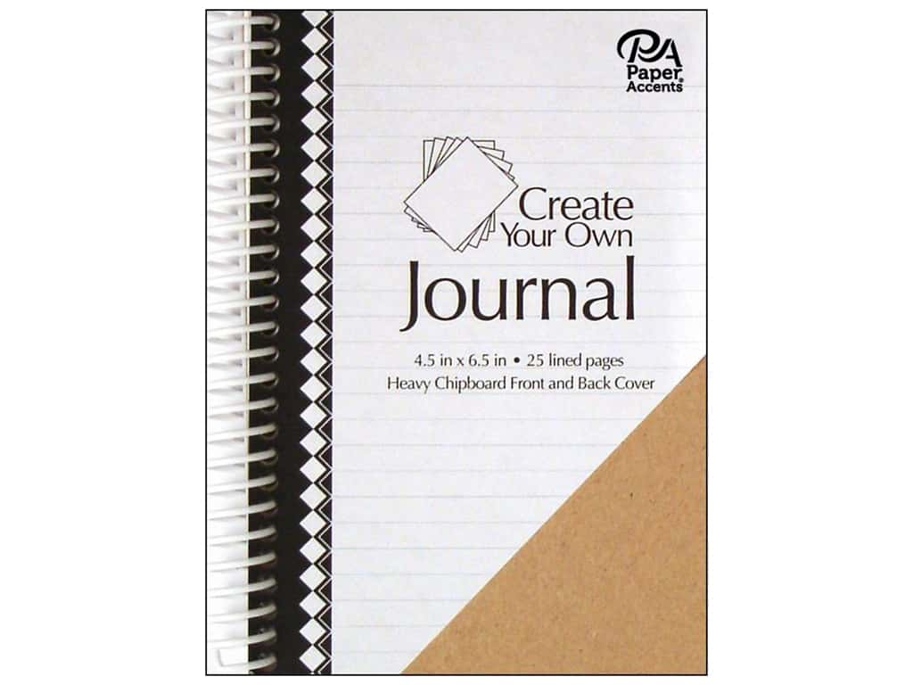 Paper Accents Create Your Own Journal 4.5 in. x 6.5 in. Lined 25 pg