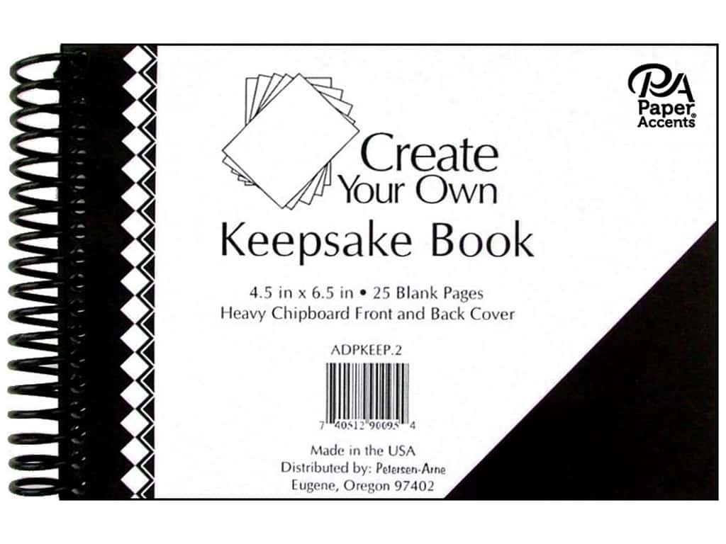 Paper Accents Create Your Own Keepsake Book 6.5 in. x 4.5 in. 25 pg Black Cover