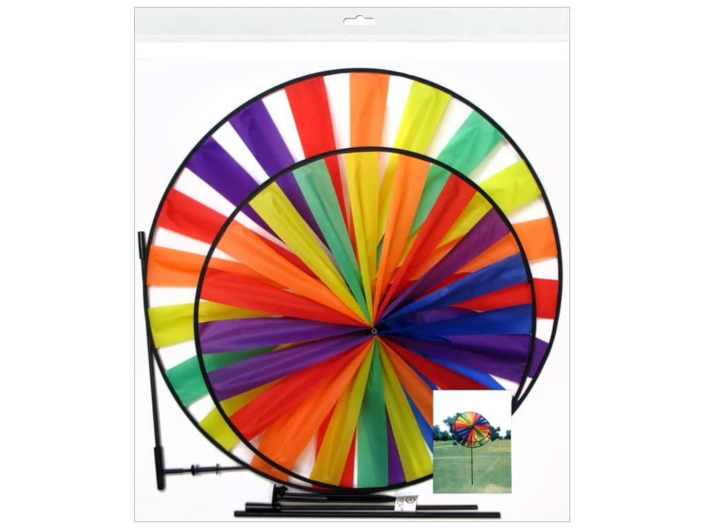 Sierra Pacific Crafts Wind Spinner Nylon Rainbow (6 pieces)
