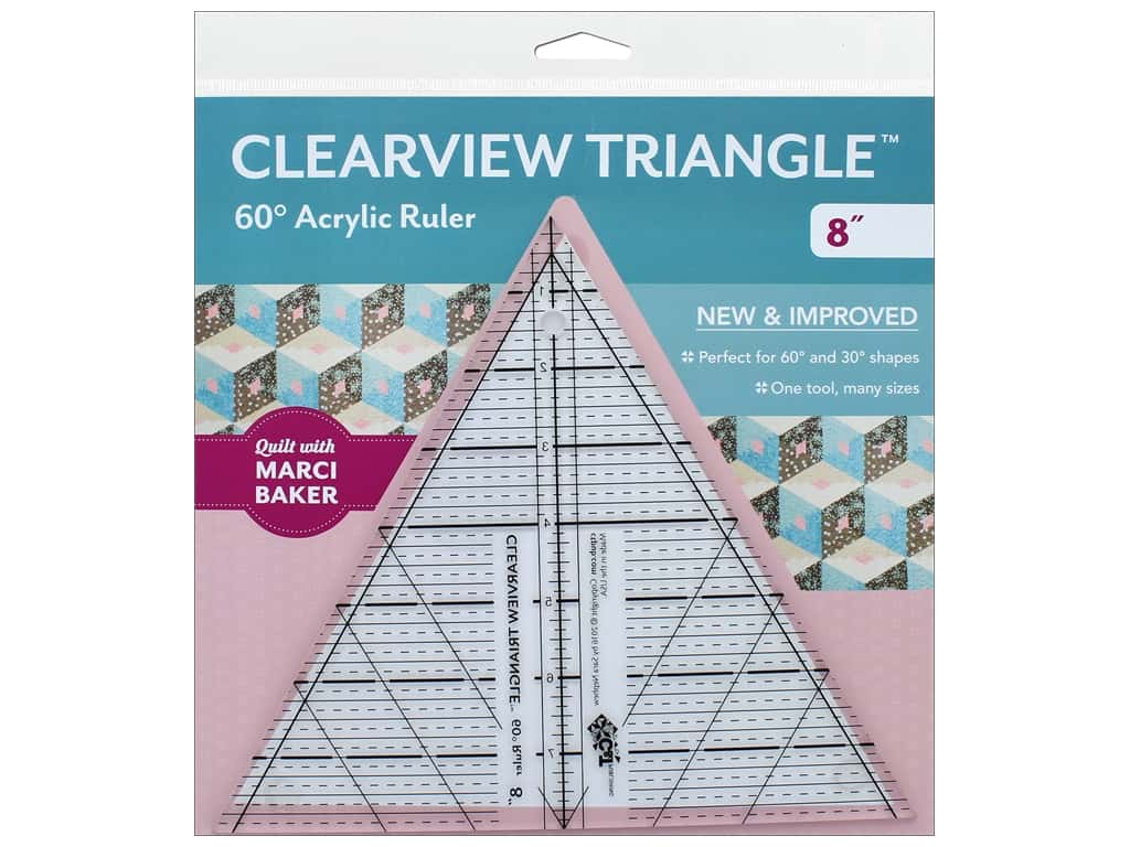 C&T Publishing Clearview Triangle  8 in. 60 Degree Ruler