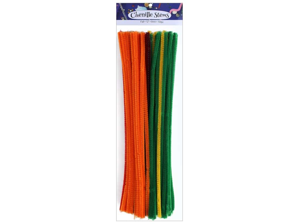 PA Essentials Chenille Stems 6 mm x 12 in. Fall 100 pc.